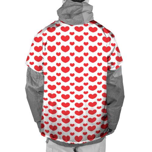 Накидка на куртку 3D  Фото 02, Красные сердечки