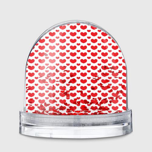 Водяной шар  Фото 01, Красные сердечки