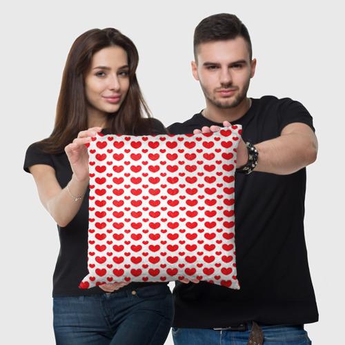 Подушка 3D  Фото 05, Красные сердечки