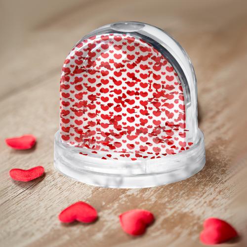 Водяной шар  Фото 04, Красные сердечки