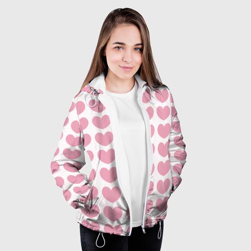 Женская куртка 3D  Фото 04, Милые сердечки
