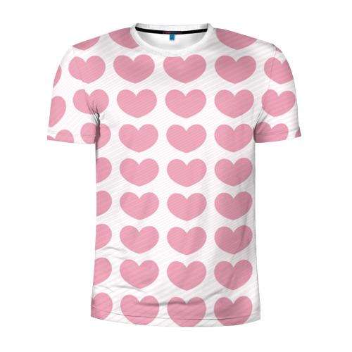 Мужская футболка 3D спортивная  Фото 01, Милые сердечки