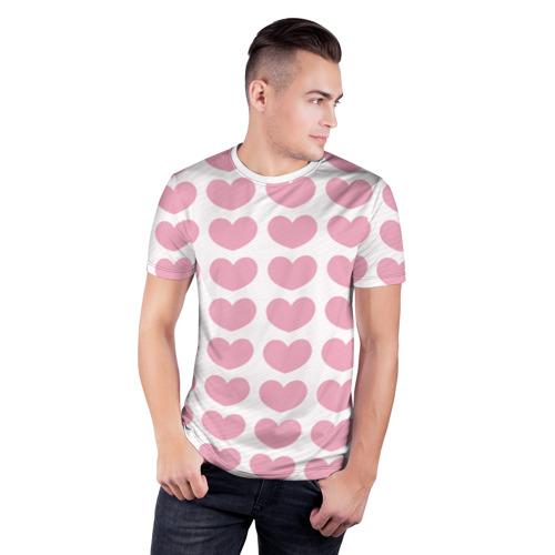 Мужская футболка 3D спортивная  Фото 03, Милые сердечки