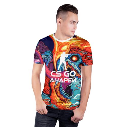 Мужская футболка 3D спортивная  Фото 03, Андрей в стиле CS GO