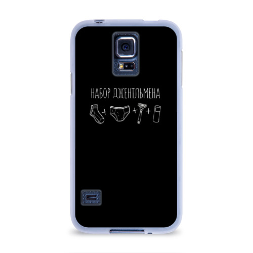 Чехол для Samsung Galaxy S5 силиконовый  Фото 01, Джентльменский набор