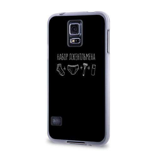 Чехол для Samsung Galaxy S5 силиконовый  Фото 03, Джентльменский набор