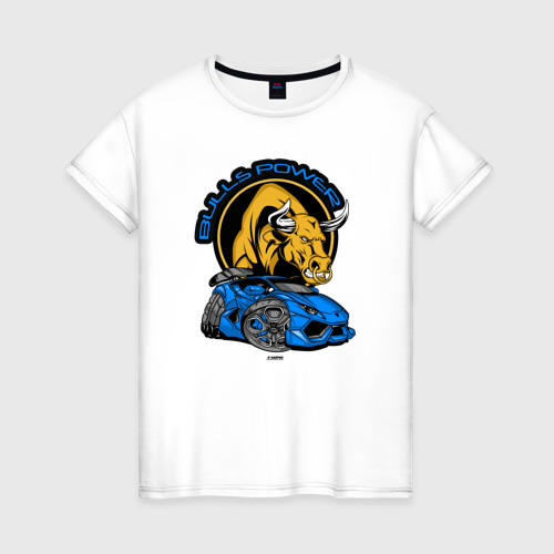 Женская футболка хлопок СИЛА БЫКОВ