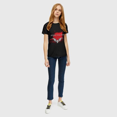 Женская футболка 3D Анастасия Фото 01