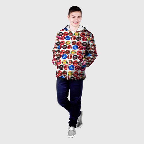 Мужская куртка 3D  Фото 03, Lips Pattern