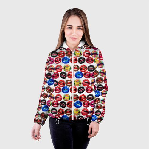 Женская куртка 3D  Фото 03, Lips Pattern