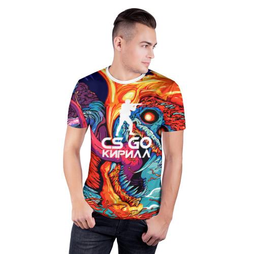 Мужская футболка 3D спортивная  Фото 03, Кирилл в стиле CS GO