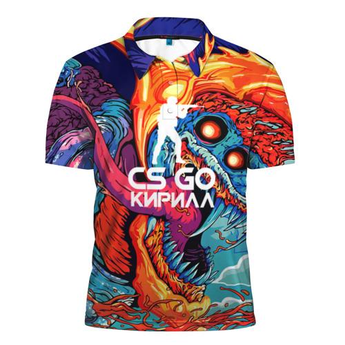 Мужская рубашка поло 3D  Фото 01, Кирилл в стиле CS GO