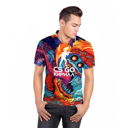 Мужская рубашка поло 3D  Фото 05, Кирилл в стиле CS GO