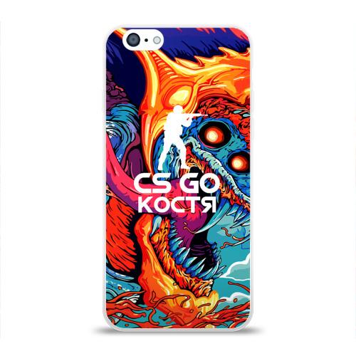 Чехол для iPhone 6/6S глянцевый Костя в стиле CS GO Фото 01