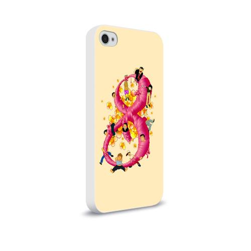Чехол для Apple iPhone 4/4S soft-touch  Фото 02, Женский день