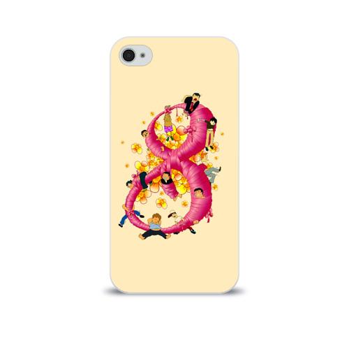 Чехол для Apple iPhone 4/4S soft-touch  Фото 01, Женский день