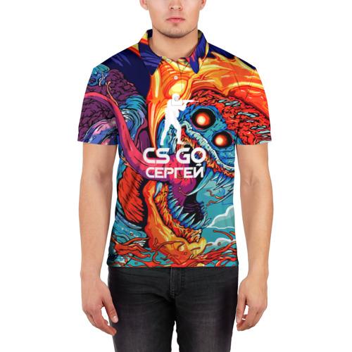 Мужская рубашка поло 3D  Фото 03, Сергей в стиле CS GO
