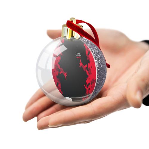 Ёлочный шар с блестками  Фото 03, AUDI SPORT