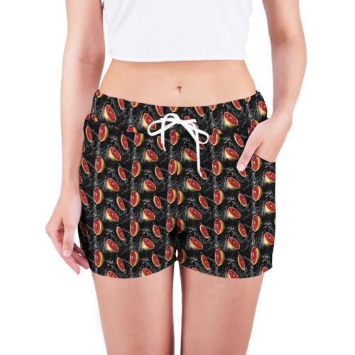 Женские шорты 3D  Фото 03, Грейпфруты