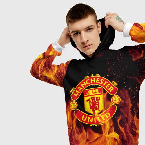 Мужская толстовка 3D FC Manchester United