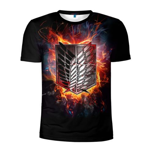 Мужская футболка 3D спортивная Attack On Titan