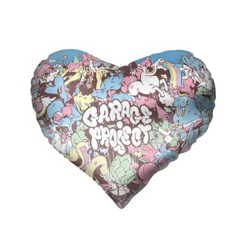 Подушка 3D сердце  Фото 02, Stickerbombing
