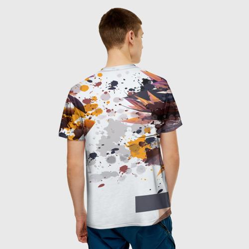 Мужская футболка 3D  Фото 02, Abstraction flower