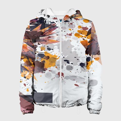 Женская куртка 3D  Фото 01, Abstraction flower