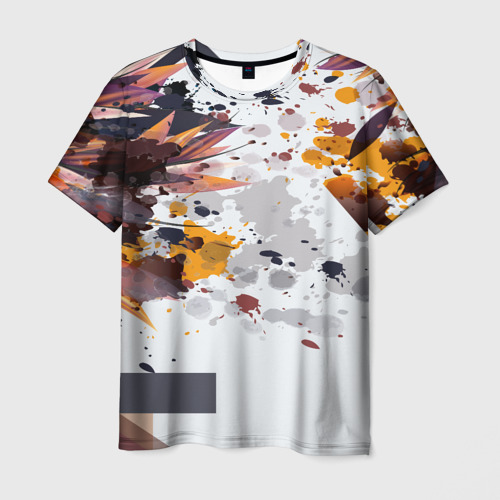 Мужская футболка 3D  Фото 03, Abstraction flower
