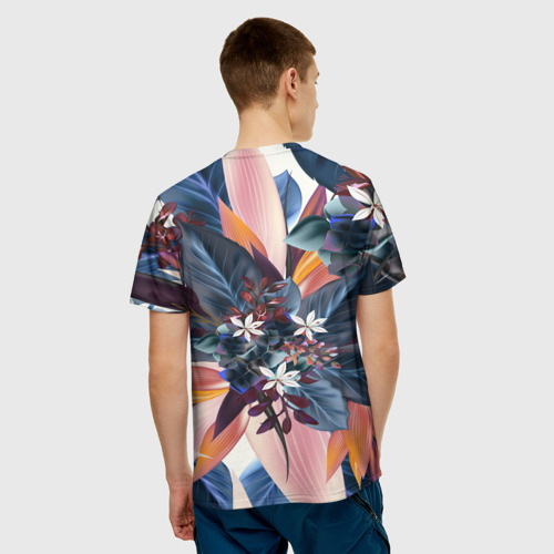 Мужская футболка 3D  Фото 02, Flower collection