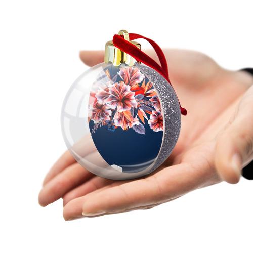 Ёлочный шар с блестками  Фото 03, Цветочная мода