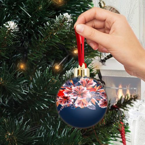 Ёлочный шар с блестками  Фото 04, Цветочная мода