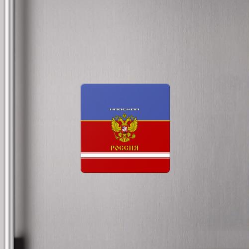 Магнит виниловый Квадрат  Фото 04, Хоккеистка Надежда