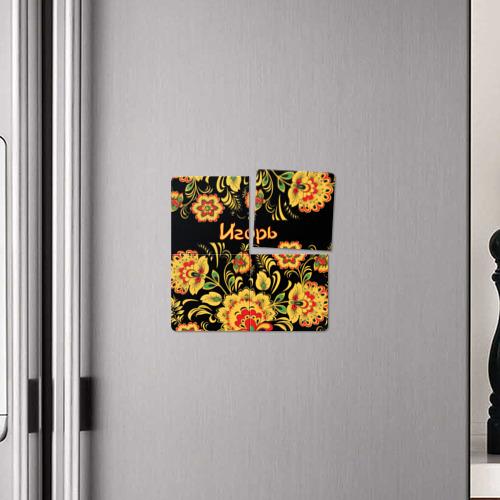 Магнитный плакат 2Х2  Фото 04, Игорь, роспись под хохлому