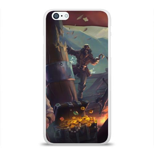 Чехол для Apple iPhone 6Plus/6SPlus силиконовый глянцевый  Фото 01, Gold