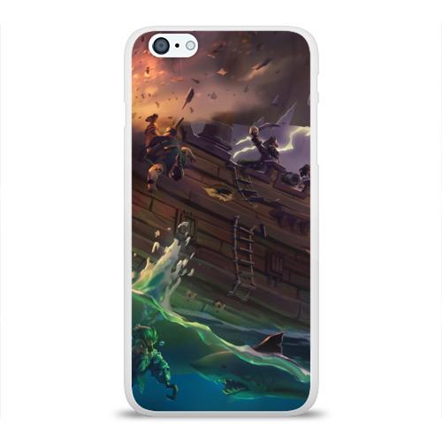Чехол для Apple iPhone 6Plus/6SPlus силиконовый глянцевый  Фото 01, Sea