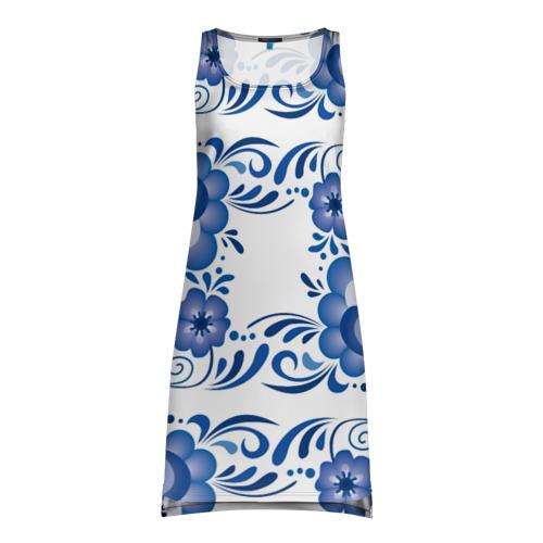 Платье-майка 3D Гжель