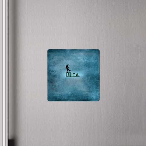 Магнит виниловый Квадрат  Фото 04, Рита в стиле Доктор Хаус