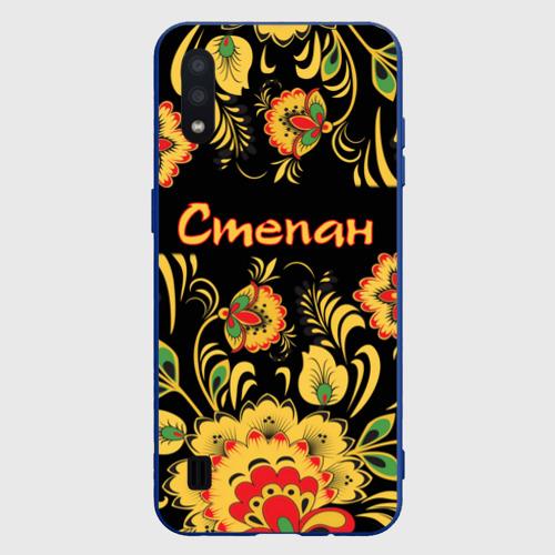 Чехол для Samsung A01 Степан, роспись под хохлому Фото 01