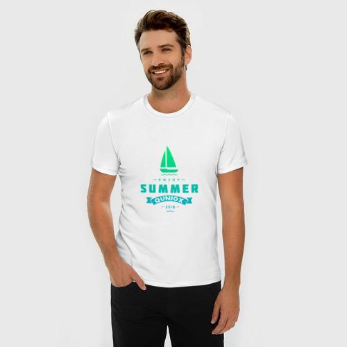 Мужская футболка премиум  Фото 03, Лето