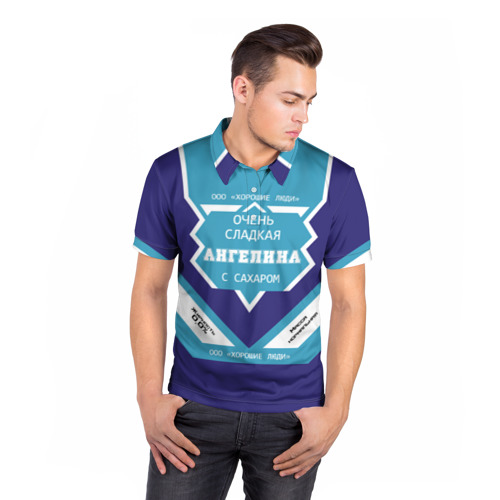 Мужская рубашка поло 3D  Фото 05, Глеб - банка сгущенки
