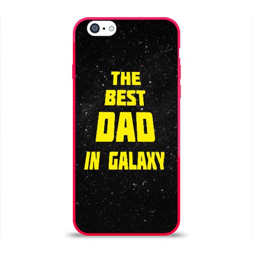 Чехол для Apple iPhone 6 силиконовый глянцевый The best dad Фото 01