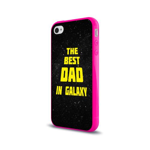 Чехол для Apple iPhone 4/4S силиконовый глянцевый The best dad Фото 01
