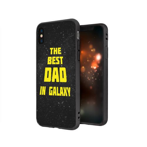 Чехол для Apple iPhone X силиконовый матовый The best dad Фото 01
