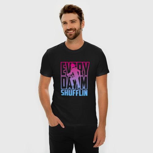 Мужская футболка премиум  Фото 03, Everyday I'm shuffling