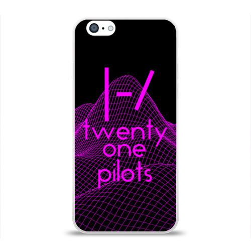 Чехол для Apple iPhone 6 силиконовый глянцевый  Фото 01, twenty one pilots neon music