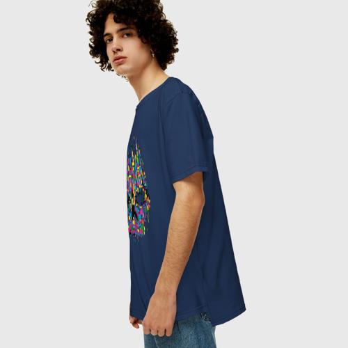Мужская футболка хлопок Oversize Череп Фото 01