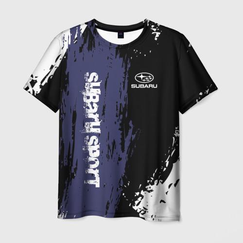Мужская футболка 3D SUBARU SPORT