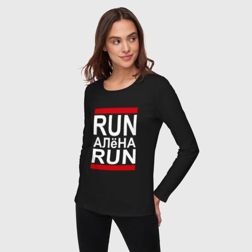 Женский лонгслив хлопок  Фото 03, Run Алёна Run