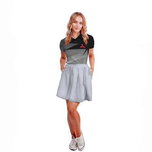 Женская рубашка поло 3D MITSUBISHI SPORT   Фото 01